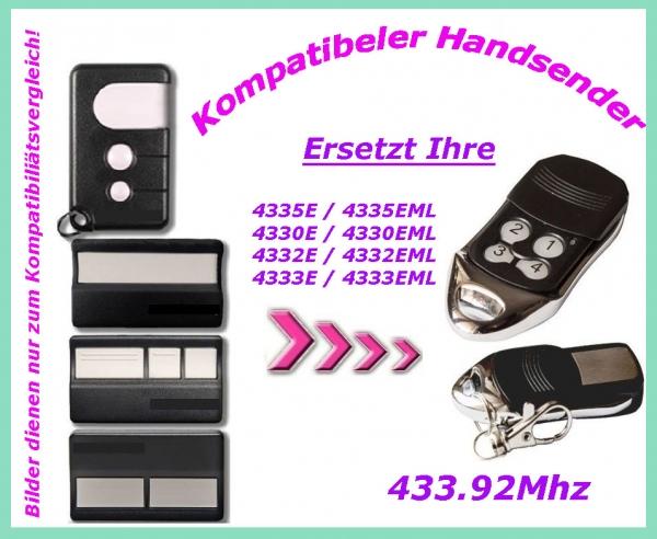handsender fernbedienung kompatibel zu 4330e 4330eml g4330e g4330 4332e 4332eml. Black Bedroom Furniture Sets. Home Design Ideas